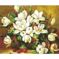 """Картина стразами """"Букет белых цветов"""""""