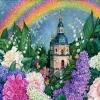"Картина стразами ""В цветах радуги"""