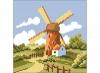 """Картина стразами """"Ветряная мельница"""""""
