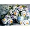 """Картина стразами """"Белые розы"""""""